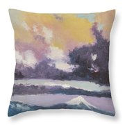 Clouds Of Mt Hood Throw Pillow