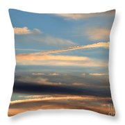 Clouds Of Natural Art Throw Pillow
