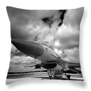 Clouds Of War Throw Pillow