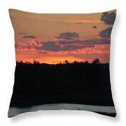 Clouds On Fire - Thousand Island Sunset -  Throw Pillow