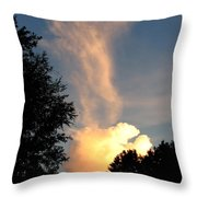 Clouds On Fire Throw Pillow