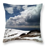 Clouds On The Mountain Throw Pillow