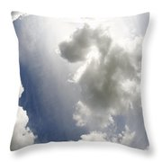 Clouds On The Sky Throw Pillow