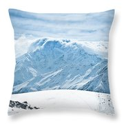 Clouds On The Top Of The Ridge Throw Pillow