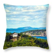 Clouds Over Acadia Throw Pillow