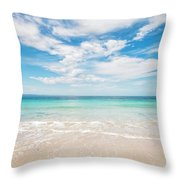 Clouds Over Blue Sea Throw Pillow