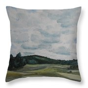Clouds Over Boot Hill Throw Pillow
