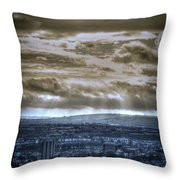 Clouds Over Bristol Hdr Split Toning Throw Pillow