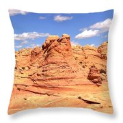 Clouds Over Candyland Throw Pillow