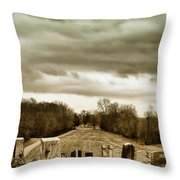 Clouds Over Cemetery Throw Pillow