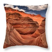 Clouds Over Coyote Buttes North Throw Pillow