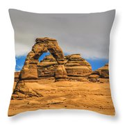Clouds Over Delicate Arch Throw Pillow