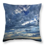 Clouds Over English Bay From Sunset Beach Vancouver Throw Pillow