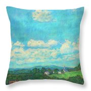 Clouds Over Fairlawn Throw Pillow