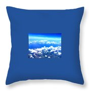 Clouds Over Florida Throw Pillow