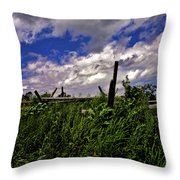 Clouds Over Gettysburg Throw Pillow