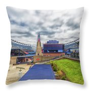 Clouds Over Gillette Stadium Throw Pillow