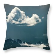 Clouds Over Glacier, Banff Np Throw Pillow