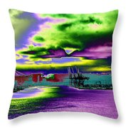 Clouds Over Harbor Island Throw Pillow
