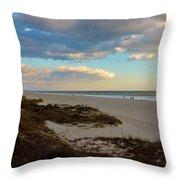 Clouds Over Holden Beach Throw Pillow