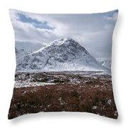 Clouds Over Mountains, Glencoe, Scotland Throw Pillow