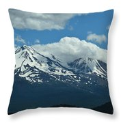 Clouds Over Mt Shasta Throw Pillow