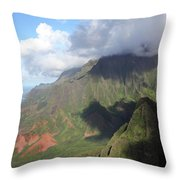 Clouds Over Napali II Throw Pillow