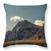 Clouds Over Red Rock Canyon Throw Pillow