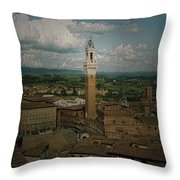 Clouds Over Siena Throw Pillow