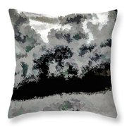 Clouds Over St Thomas At Dusk 1 Throw Pillow