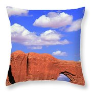 Clouds Over The Arches Throw Pillow