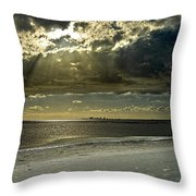 Clouds Over The Bay Throw Pillow