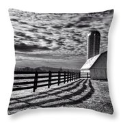 Clouds Over The Farm Throw Pillow