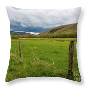 Clouds Over The Hills Throw Pillow