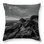 Clouds Over The Isle Of Skye Throw Pillow