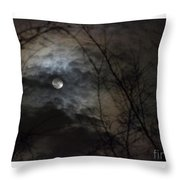 Clouds Over The Moon Throw Pillow