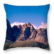 Clouds Over The Mountain Throw Pillow