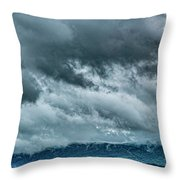Clouds Over The Mountans 1329tmt Throw Pillow