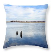 Clouds Over The Mullica River Throw Pillow