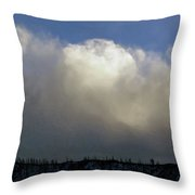 Clouds Over The Ridge Throw Pillow