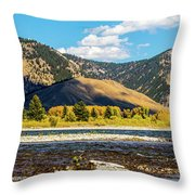 Clouds Over The Teton Foothills Throw Pillow