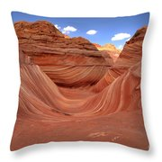 Clouds Over The Wave Throw Pillow