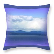 Clouds Puget Sound Throw Pillow