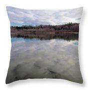 Clouds Reflect Throw Pillow