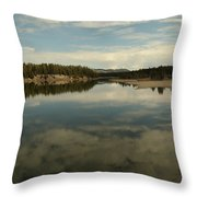 Clouds Reflecting In An Alpine Lake.  Throw Pillow