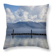 Clouds Reflecting Off Priest Lake Throw Pillow