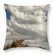 Clouds Rising Palm Springs Throw Pillow