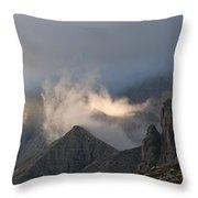 Clouds Sunset Throw Pillow