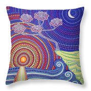 Clouds Tree Throw Pillow
