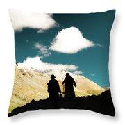 Clouds Way Kailas Kora Himalayas Tibet Yantra.lv Throw Pillow